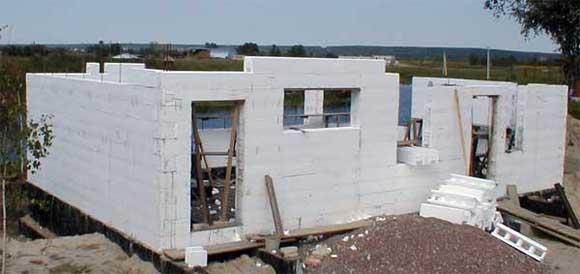 технология строительства из термоблоков, проект, строительство термодома.