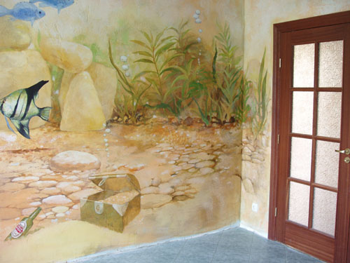 Фрески, интерьер квартиры, дизайн интерьера квартир,