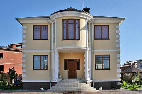 Кирпичный дом коттедж, строительство котеджей под ключ