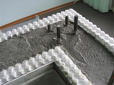 Пенополистирол, бетон