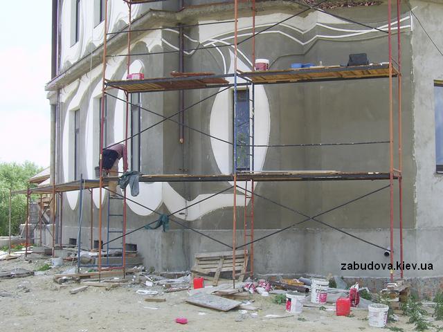 Котеджі фасадні роботи обробка