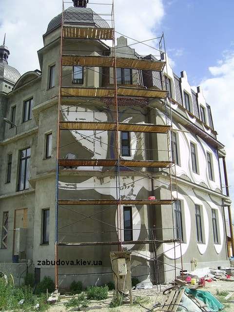 Строительство коттеджа под ключ. Фасадные работы.