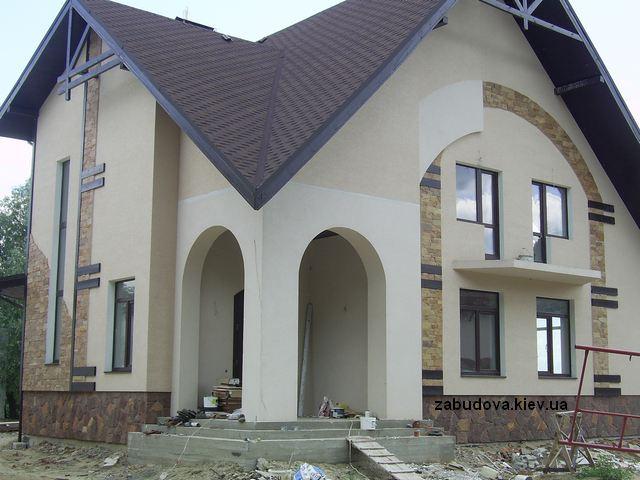 Строительство домов под ключ, проекты частных домов, киев