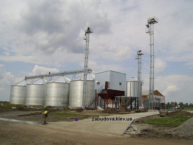 Монтаж зернохранилища