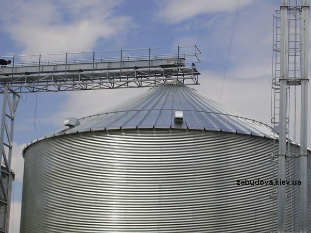 Монтаж зернохранилища, элеватор