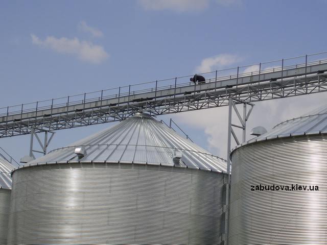 Монтаж зернохранилища под ключ
