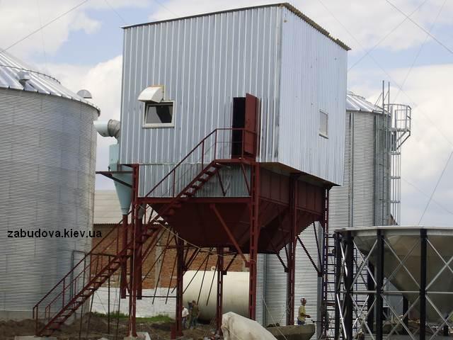 Монтаж зернохранилища,  зернохранилище, элеватор
