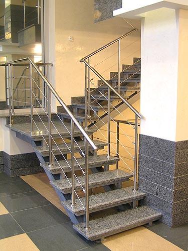 Лестницы, перила из нержавейки, нержавеющей стали