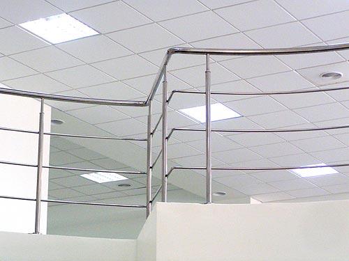 Лестницы, перила, металлические, алюминиевые, из нержавейки