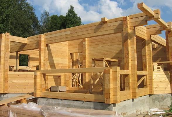Дом из клееного бруса, строительство домов из клееного бруса